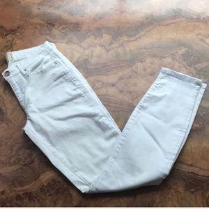 Rachel Roy Skinny White Mid-Rise Denim Jeans 28